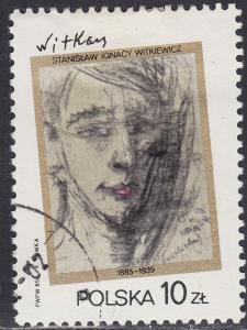 Poland 2709 USED 1985 Paintings by: Witkiewicz 10.00zł