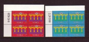 Norway Sc 841-2 1984 Europa stamp set bl of 4  mint NH