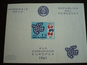 Europa 1961 - Paraguay - Imperf Souvenir Sheet