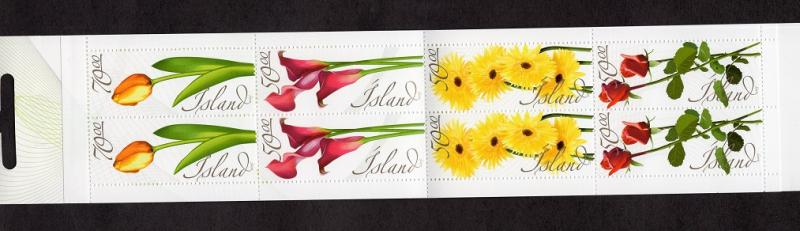 Iceland  #1042a  2005  MNH booklet flowers