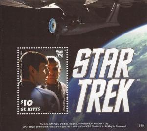 St Kitts - 2016 Star Trek Spock & Elder Spock - S/S - 19J-048