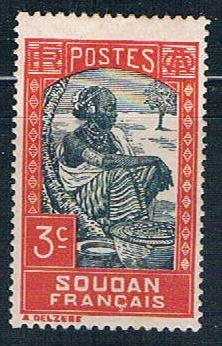 Sudan French 63 MLH Sudanese Woman 1931     ,    variety world stamps