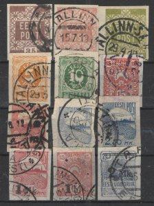 Estonia 1918-24 lot Used VG - Nice lot early used Estonia