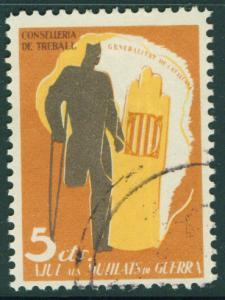 SPAIN Civil War Republic Label GG2148 Used Catalan Stamp