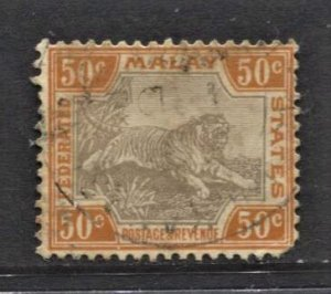 STAMP STATION PERTH Malaya #71 Tiger Definitive Used - CV$28.00