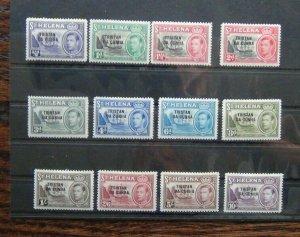 Tristan Da Cunha 1952 set to 10s Purple MM SG1 - SG12