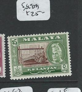 MALAYA KELANTAN  (P1108B) $5.00  SG94A   MOG
