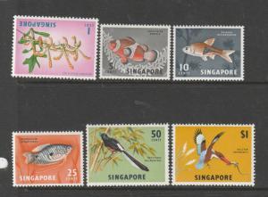 Singapore 1966/7 Defs, Wmk Sideways MM SG 83/8