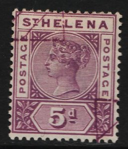 St. Helena 1890/1897 Queen Victoria 5p (1/7) USED
