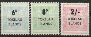 Tokelau Is. # 6-8   Surcharged on New Zealand   (3)  Mint NH