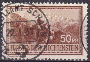 Liechtenstein  #125  F-VF Used   CV $21.00 (Z3167)