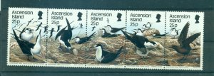 Ascension Is. - Sc# 453. 1988 Birds. MNH Strip. $10.00.