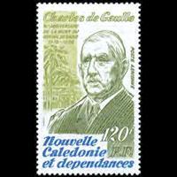 NEW CALEDONIA 1980 - Scott# C168 De Gaulle Set of 1 NH