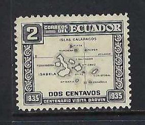 ECUADOR 340 MOG MAP X666-11