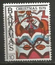 BAHAMAS 459 VFU CHRISTMAS Y182-10