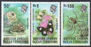 British Indian Ocean Territory 1973 Wildlife (1st series) MNH