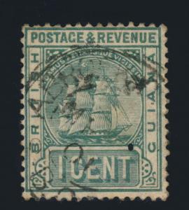 GUYANA / BRITISH GUIANA - 1901 - STABROEK GEORGETOWN SINGLE CIRCLE DS ON SG213
