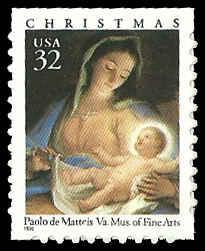 PCBstamps  US #3112 Bk Sgl 32c Madonna & Child, 1996, MNH, (5)