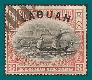 Labuan 1897 Malay Dhow, p16, cancelled  #79,SG94ca
