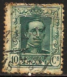 Spain 1922 Scott# 335 Used (toning)