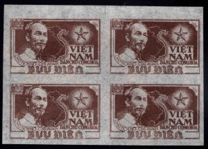 Democratic Republic of Vietnam Scott 1 Ho Chi Minh map block of Four