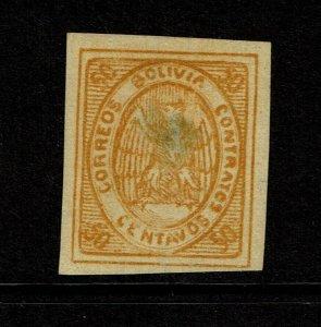 Bolivia SC# 5 Mint No Gum / Center Thin - S9254
