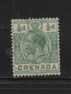 GRENADA #79  1913  1/2p  KING GEORGE V       F-VF  USED  b