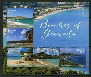 GRENADA  2019 BEACHES OF GRENADA  SHEET MINT NH