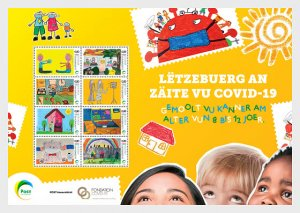 Luxembourg 2020 COVID-19 - Children's Drawing Competition - Sheetlets MNH
