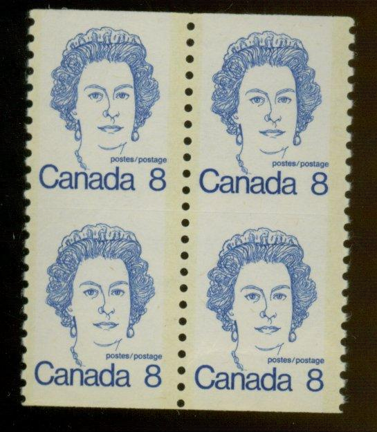 Canada #604a MINT Block VF OG NH Cat$320
