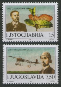 1991 Yugoslavia 2473-2474 Airplanes 2,60 €