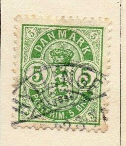Denmark 1875 Early Issue Fine Used 5ore. NW-113855