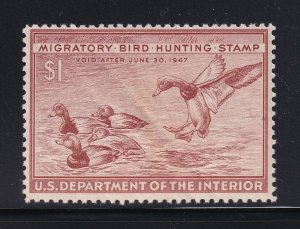 RW13 VF-XF original gum never hinged with nice color cv $ 50 ! see pic !