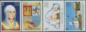 British Virgin Islands 1992 SG818-825 Discovery of America MNH