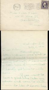 1918 WASH., DC & MACHINE CNL WITH 3 LETTER ENCL. BM7594