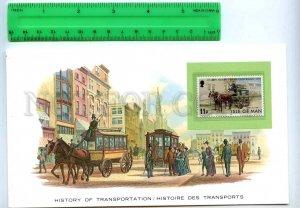 255173 ISLE of MAN omnibus card w/ mint stamp
