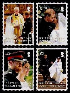 British Indian Ocean Territory Sc# 489-92 MNH Royal Wedding