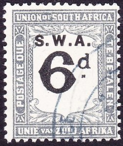 SOUTH WEST AFRICA 1928 KGV 6d Black & Slate Postage Due SGD46 FU