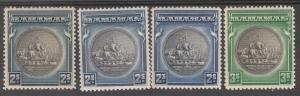 BAHAMAS 1931 SHIP 2/- 3 SHADES AND 3/-