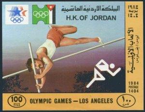 Jordan 1197a,lightly hinged.Michel Bl.48 Olympics Los Angeles-1984:Pole vaulting