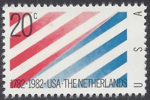 #2003 20c USA-Netherlands 1982 Mint NH