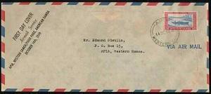 SAMOA 1959 first flight cover Apia to American Samoa - Pago Pago arrival...33609