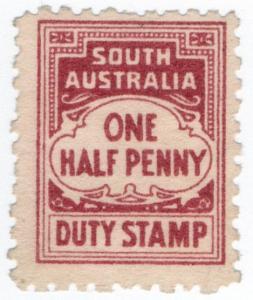(I.B) Australia - South Australia Revenue : Stamp Duty ½d