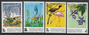 SINGAPORE, 112-115, HINGED, OSAKA EXPO '70