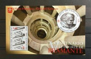 Vatican City Sc# 1568 Souvenir Sheet MNH Donato Bramante 2014