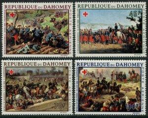 DAHOMEY Sc#C77-C80 1968 Red Cross Battle Paintings Complete OG Mint LH