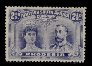 RHODESIA SG184, 2½d ultramarine, M MINT. Cat £38. PERF 13½