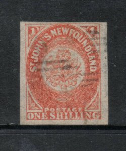 Newfoundland #15 Very Fine Used With Large Margins - Tiny Thin *With Cert.*