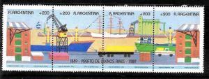 ARGENTINA 1990 PORT CENTENARY SHIPS YV 1709-12 Mi 2008-11 MNH