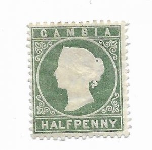 Gambia #12 MH OG - Stamp - CAT VALUE $5.25